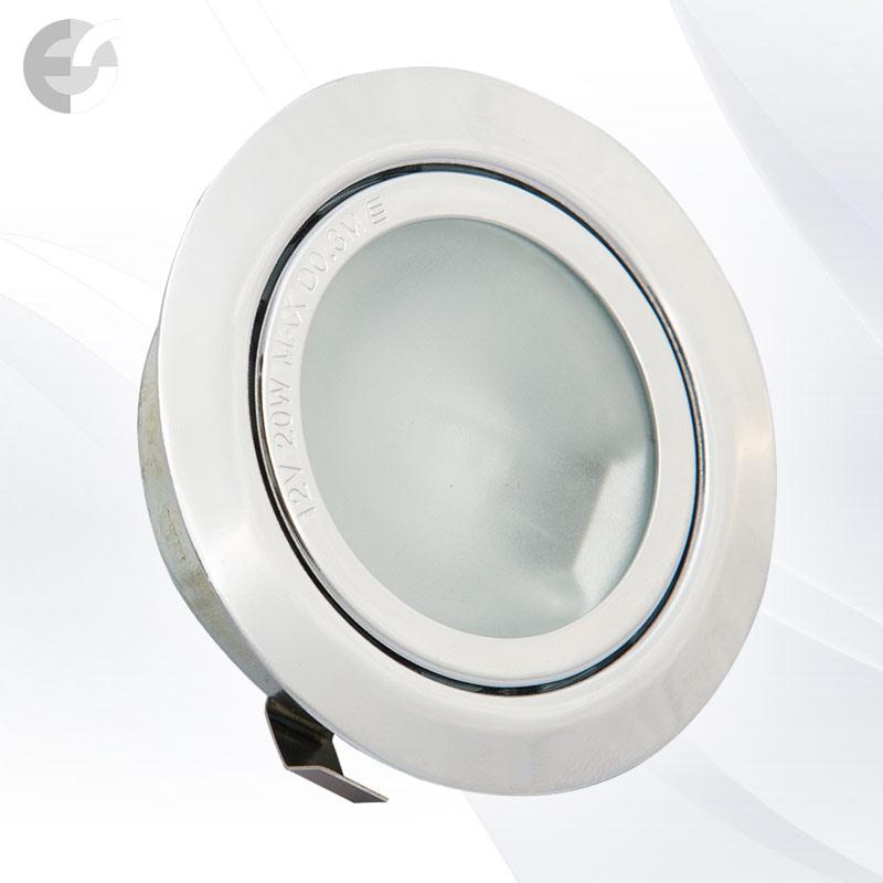 Луна - стационарна мебелна хром От Coup Light.com