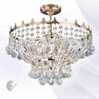 Плафон с позлата и кристали VERSAILLES От Coup Light.com