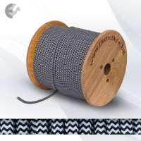 Текстолен кабел 2х0.75mm2 черно-бяла опетка От Coup Light.com