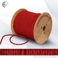 Текстилен кабел 2х0.75мм2 усукан червен От Coup Light.com