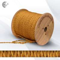 Текстилен кабел 2х0.75мм2 усукан златен От Coup Light.com