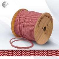 Текстилен кабел 2х0.75мм2 оплетка червено-бял От Coup Light.com