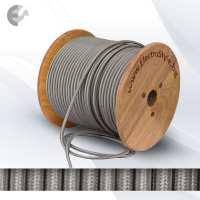 Текстилен кабел 2х0.75mm2 сребрист (титан) От Coup Light.com