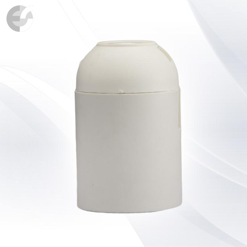 Фасунга бяла Е27 права  От Coup Light.com
