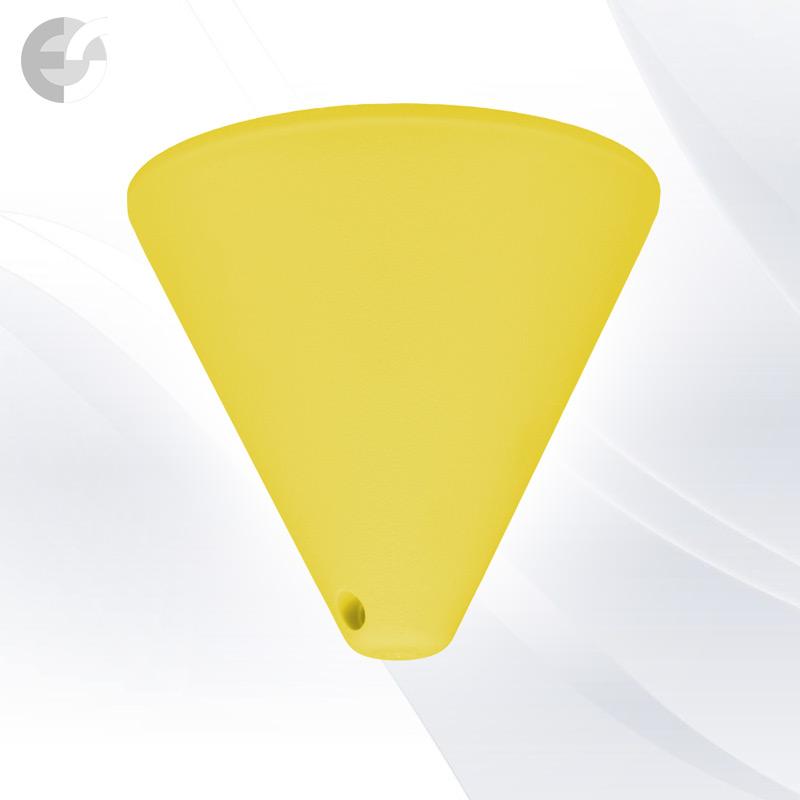 Конус PVC за пендел към таван жълт(0701YE)