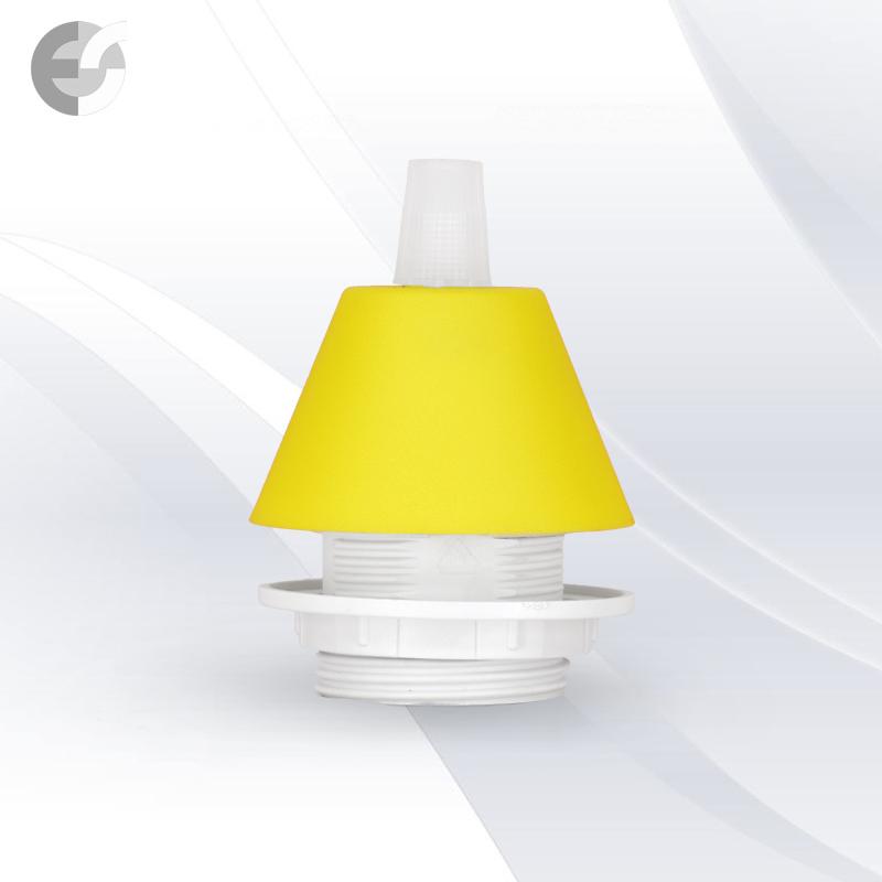 Конус PVC за пендел към фасунга жълт От Coup Light.com