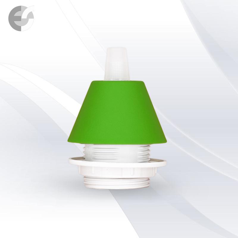 Конус PVC за пендел към фасунга зелен(0702GR/SET)