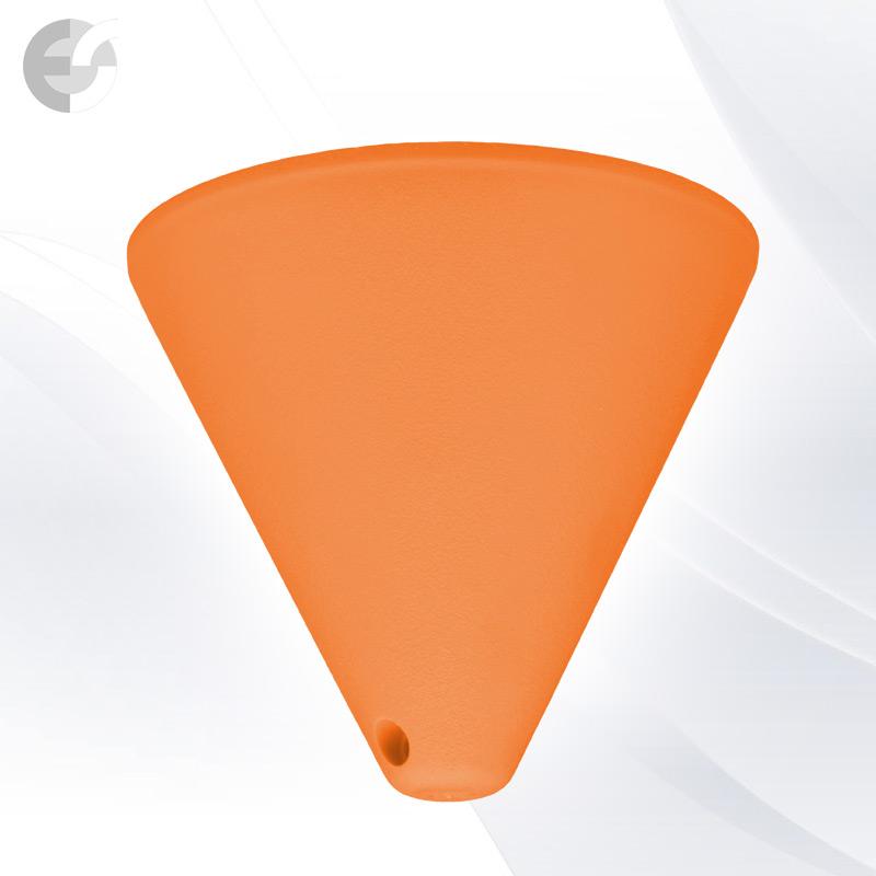 Конус PVC за пендел към таван оранжав От Coup Light.com