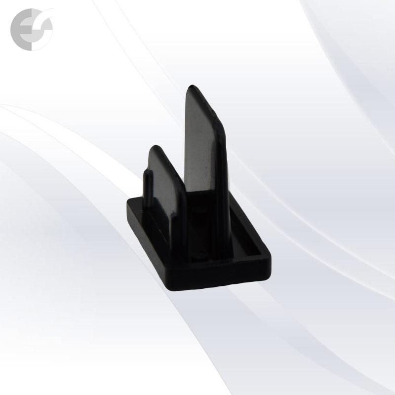 End cap за тоководеща 2-линейна шина черна(2LEND-BK)