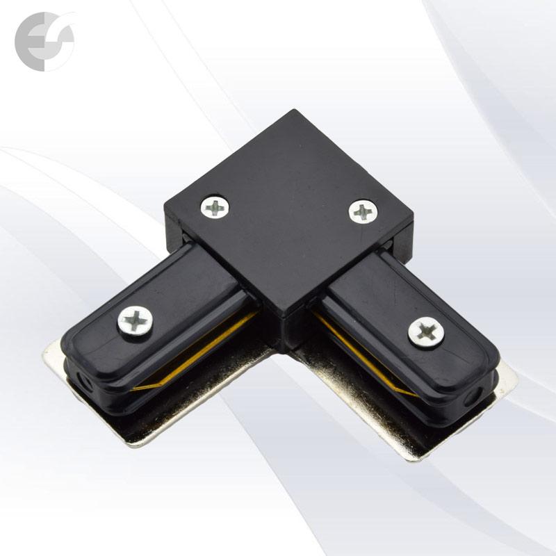 Ъглов конекторен елемент за 2-линейна шина черна От Coup Light.com