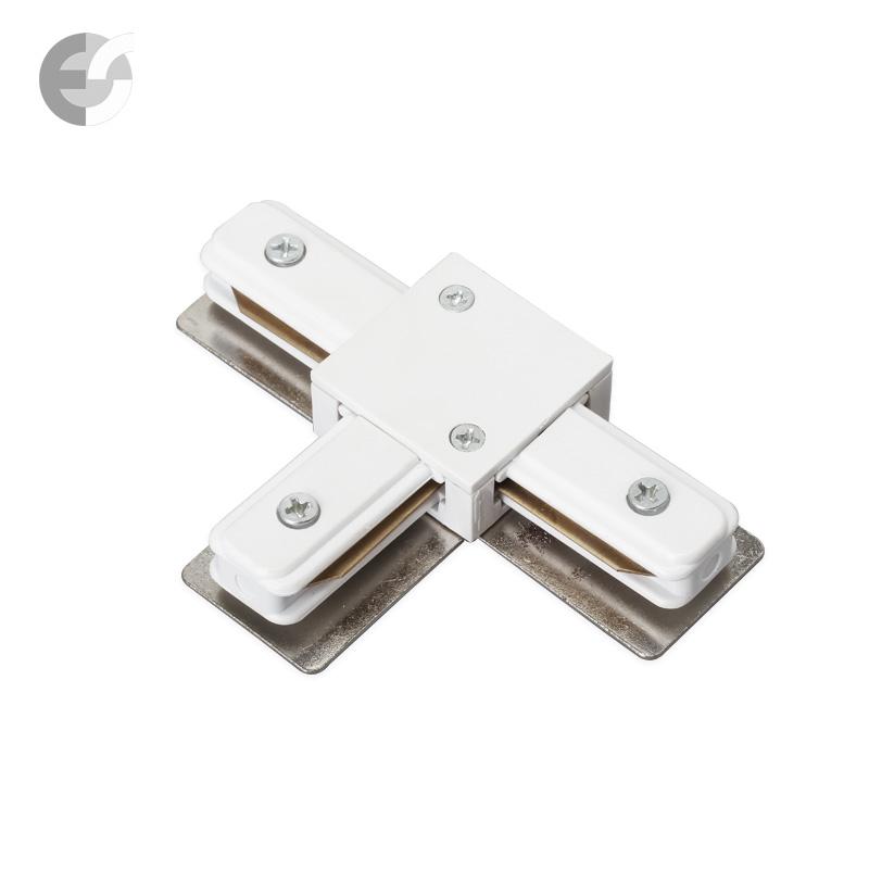 Трипътен конекторен елемент за 2-линейна шина бяла От Coup Light.com