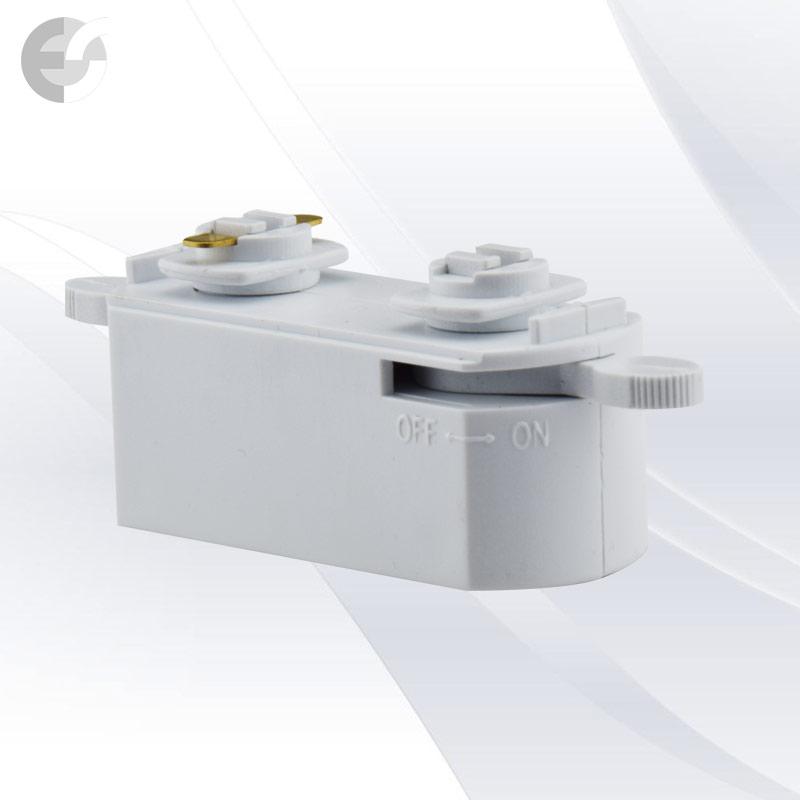 Mini адаптор за 2-линейна шина бяла От Coup Light.com