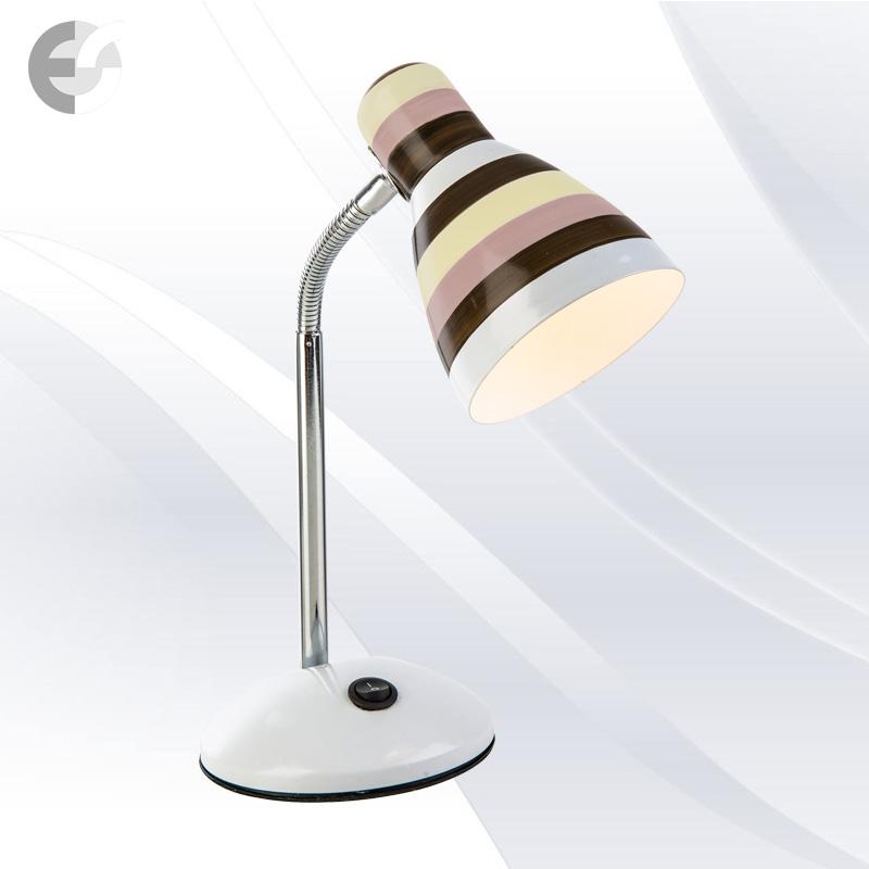 Настолна лампа бяла с цветни линии TRACE От Coup Light.com