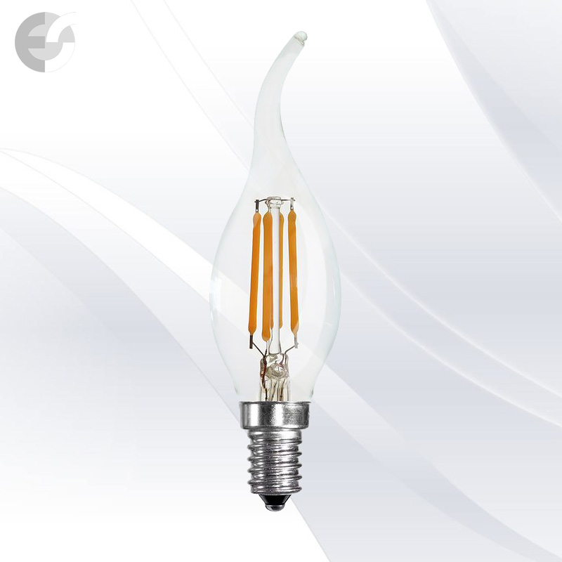 LED крушка 4W E14 3000K 380lm(KW-LC35F-4W)