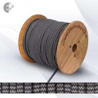 Текстилен кабел 2х0.75мм2 антрацит/сив ZigZag От Coup Light.com