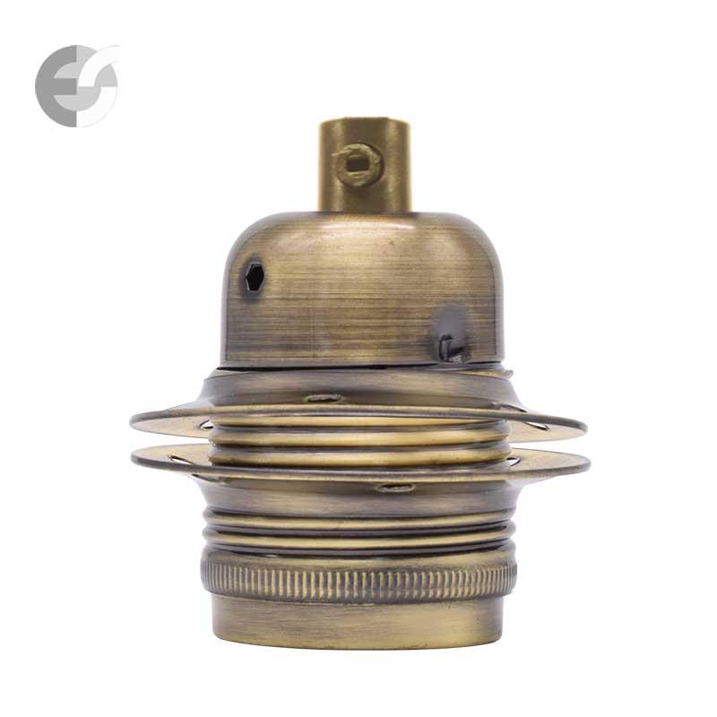 Фасунга Е27 с ринг в цвят античен месинг От Coup Light.com