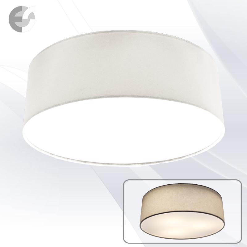 Плафон MOON с бял текстилен абажур От Coup Light.com