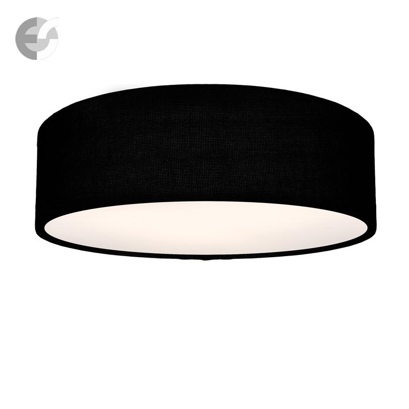 Плафон MOON с черен текстилен абажур От Coup Light.com